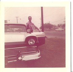 JON AND HIS 1957 FORD FAIRLANE 500 1958 (ussiwojima) Tags: california ford oakland jon 1958 1957 fairlane500
