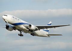 4X-ECC, Boeing 777-258ER, El Al, LHR 06.10.2013 (Skidmarks_1) Tags: airport heathrow aircraft aviation lhr airliners elal boeing777 egll 4xecc