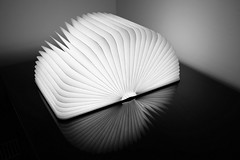 Floating (cruddog) Tags: light blackandwhite lamp book design modernart booklight lumio hellolumio