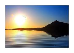 ELGOL SUNSET (Lucky Del) Tags: sunset sea sky sun seascape mountains reflection skye water island scotland dusk ripples cuillins isle elgol derekmonaghan