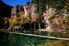 Emerald Pond (Let Ideas Compete) Tags: lake water pond october colorado glenwood springs hanging emerald guysweekend hikerhabitat