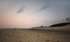 un soir d't (CDR.onair) Tags: ocean sunset sea summer panorama mer france beach nature landscape nikon pano atlantic t paysage plage coucherdesoleil d800 atlantique ocan landes biscarrosse hoteldelaplage nikond800 grandsespaces