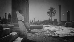 Butoh Improvisation at Al-Mina Colonnade (Tyre, Lebanon. Gustavo Thomas  2013) (Gustavo Thomas) Tags: blackandw