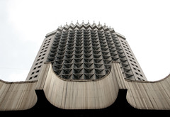 Landmark in Almaty: the old soviet hotel Kazakhstan (roomman) Tags: old building concrete hotel earthquake earth style soviet huge tall kazakhstan almaty medeo sovietstyle kasachstan chimbulak 2013 chymbulak qake