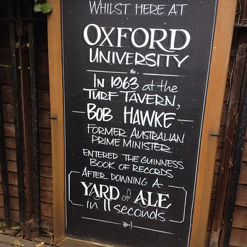 Oxford, UK. Home to Bob Hawke's...
