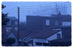 Rveil triste (Jean-Luc Lopoldi) Tags: morning light mist window wet gris lumire bleu triste wires fentre ville damp wakingup matin humide filslectriques