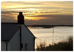 Lepe house sunset (Maw*Maw) Tags: roof sunset sea chimney sun house clouds contrast photoshop tile mask masks crop layer slate lepe