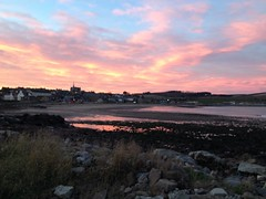 Sunfire (Rosa Alba Macdonald) Tags: sunset skyscape nightscape nightfall stonehaven stonehavensunsets