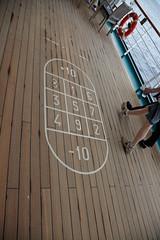 shuffleboard board (ChrisBrookesPhotography.co.uk) Tags: man deck lifeboat po