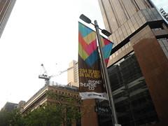 . (RubyGoes) Tags: city sky buildings crane banner sydney australia nsw philipst sydneytheatrecompany sydneytheatreco