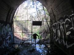Tunnel vision (darkday.) Tags: urban australia brisbane explore qld urbex traintunnel exploation