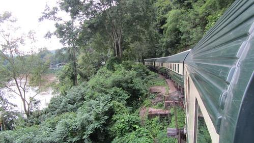 Eastern & Oriental Train crossing the Wampo Viaduct