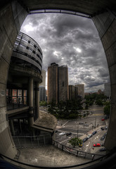 Through the Bernabu window (Hussain Shah.) Tags: madrid santiago real stadium taken hdr bernabu