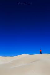 Sand Dune (john white photos) Tags: man nature standing coast sand ripple dune hill australian australia coastal southaustralia eyrepeninsula