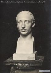 Edmondo Prati Ritratto del pittore Beltrame Busto in marmo Brera 1925