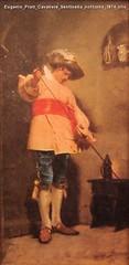 Eugenio Prati Cavaliere Sentinella notturna 1874 olio su tela 29,5 x 14,5 cm Collezione privata