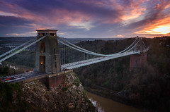 Clifton Suspension Bridge (Scott Howse) Tags: city uk bridge sunset england sky river bristol nikon traffic dusk lee filters suspensionbridge avon clifton 09h 2470f28g d800e