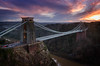Clifton Suspension Bridge (Scott Howse) Tags: city uk bridge sunset england sky river bristol nikon traffic dusk lee filters suspensionbridge avon clifton 09h 2470f28g d800e