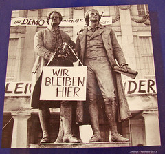 Weimar/Thüringen - Gothe-Schiller-Denkmal