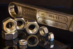 Spanner & Nuts (tudedude) Tags: macro thread screw model steel machine engineering tools workshop dorset bolt precision nut panhead fitting wingnut gbr fastener threaded nutbolt caphead machinescrew posidrive tudedude
