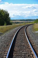 Autumn Train Rails (pokoroto) Tags: autumn canada fall september alberta 9   2013 longmonth   kugatsu nagatsuki  25