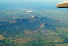 Volcano (AppalachianAfro) Tags: travel plane landscape volcano smoke flight aerial nicaragua nnp