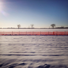 Snow Fence (Richard Pilon) Tags: winter snow canada fence iphone iphoneography hipstamatic