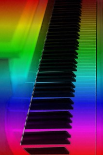 #CrazyCamera rainbow piano