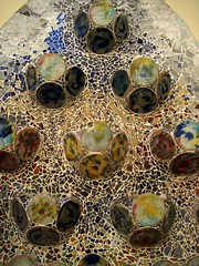 Ceramic details on the terrace of Casa Batll by A. Gaudi - Barcelona (Sokleine) Tags: barcelona faence architecture spain ceramics terrasse modernism catalonia unesco espana artnouveau gaudi espagne casabatllo unescoworldheritage barcelone catalogne dcorarchitectural
