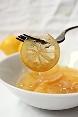 Candied lemon slices (Le Petrin) Tags: food fruit lemon citrus candied foodphotography vision:food=0861