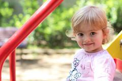 Laura (MlanieMCL) Tags: light portrait baby cute girl canon children 50mm kid spring child natural energie blond littlegirl bebe shooting enfant mignonne 650d