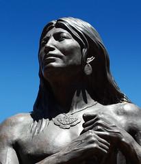 Sinagua (twm1340) Tags: plaza arizona june statue indian sedona az center 2014 sinagua