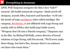 """BrickArms featured in Newsweek article on """"Beyond the Brick"""" Documentary (enigmabadger) Tags: film war play lego documentary battle violence accessories custom accessory brickarms"""