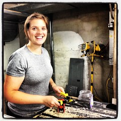 Board member, Victoria Buchy, helps renovate our new east-end location