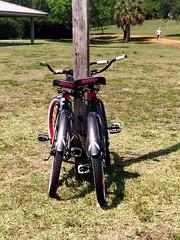A Pair (LarryJay99 ) Tags: park two bike florida lawn bikes pole rack bikerack iphone5 ilobsterit