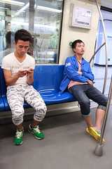 china (nothing is impossible for a willing heart) Tags: china boy people men guy subway shanghai chinese