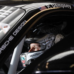Patrick Dempsey in the cockpit of the Dempsey Racing-Proton Porsche 911 RSR