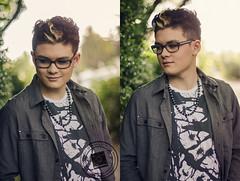 Glenn (Marie Sturges ) Tags: california camera boy portrait haircut color fashion hair 50mm glasses oakland nikon cut glenn makeup style blonde mm nikkor dslr 50 rockridge d7000