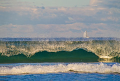 On the crest of a wave (loobyloo55) Tags: blue sea green water surf