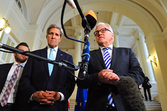 German Foreign Minister Steinmeier Addresses Reporters With Secretary Kerry Amid Iranian Nuclear Talks in Vienna (U.S. Department of State) Tags: vienna germany austria iran nuclear johnkerry p51 steinmeier