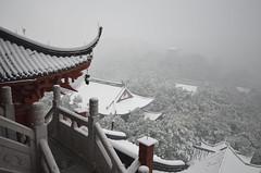 Hangzhou Chenghuang Pagoda  (romainbessire) Tags: china city snow temple pagoda nikon hiver hangzhou neige eastern   province chine zhejiang pinyin chenghuang xh d7000 subprovincial