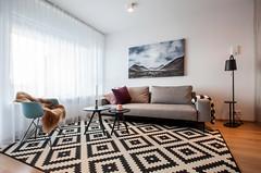 liv (sigrun th) Tags: architecture interior lines chair sofa lamp carpet room livingroom sheepskin design window art reykjavik home