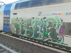 241 (en-ri) Tags: reser tots crew verde arrow valel chas train torino graffiti writing