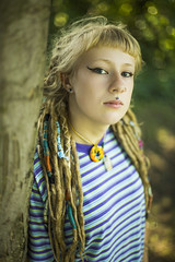 Holly Futers #2 (JonnyVSM) Tags: hippy hippie hippies yorkshire stamford bridge holly futers natural light nature trees woods pretty wow tree green soft summer portrtait model modelling fashion dreaded dreadhead dreadlock dreadlocks dreads dof