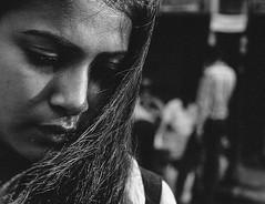 when the wind kissed her (Richik_Phoenix) Tags: face portrait girl wind blackwhite blackandwhite monochrome love street kolkata