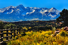 COUNTRY BLISS (Aspenbreeze) Tags: sanjuanmountains sanjuans mountains coloradomountains colorado autumn fallseason seasons rural country mountainscape landscape snowypeaks bevzuerlein aspenbreeze moonandbackphotography