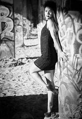 Ashley Pt.19 (tmors) Tags: portrait woman lifestyle editorial desert fashion dress grafiti bridge lines beauty beautiful urban sexy