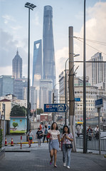 walkingntalking (matteroffact) Tags: shanghai china urban old new puxi huangpu bund thebund skyscrapers architecture matteroffact chinese nikon d800 d800e asia fall autumn 2016 oldshanghai cityscape pudong lujiazui future futuristic modern st tower shanghaitower skyline vista jin mao jinmao supertall swfc world financial center shanghaiworldfinancialcenter