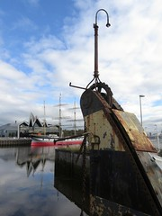 River Clyde (rbjag71) Tags: winch riverclyde clydeside govan partick tallship riverside museum reflections glasgow canonpowershot sx610hs