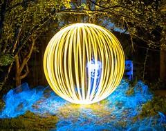 Prisoner of the sphere. (Nikolas Fotos) Tags: lightpainting lightart llightpainting lightpaintingphotography lichtmalerei lichtkunst longexposure longexposurephoto nightshot nightphoto nightscape nightphotography night lihgt orb sphere